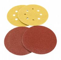 "125mm (5"") 5 hole and no-hole aluminium oxide self-adhesive sanding discs. Priced per 100 discs."